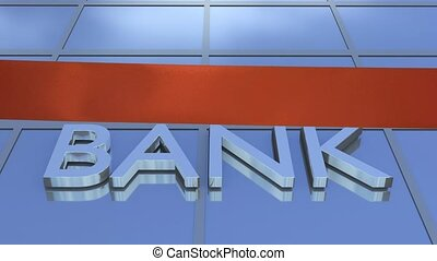 cięcie, bank, wstążka, otwarcie