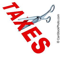 cięcie, podatki