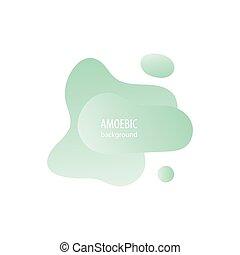 cięty, ameba, abstrakcyjny, płynny ruch, papier, tło