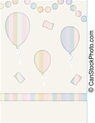 cięty papier, balony