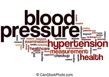 ciśnienie, słowo, krew, chmura