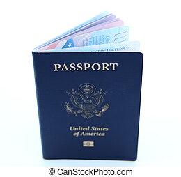 ci, passaporto, isolato