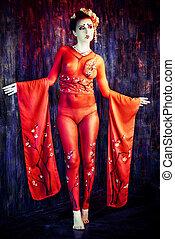 ciało, kimono