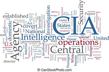 CIA Central Intelligence Agency - Word cloud concept...