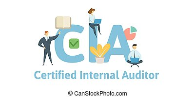 CIA, Certified Internal Auditor. Concept with keywords,...