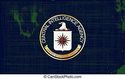CIA Flag Grunge