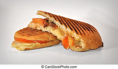 ciabatta sandwich with ham