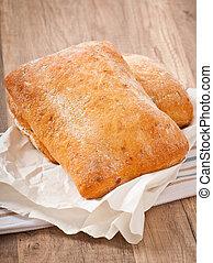 ciabatta with cheese