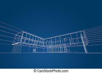 cianografia, architettura