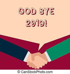 ciao, buono, ultimo, dio, foto, esposizione, espresso, quando, segno, year., auguri, testo, concettuale, fine, 2019., o, scriminatura