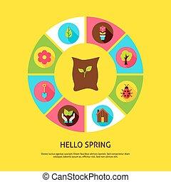 ciao, primavera, concetto