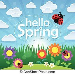 ciao, primavera, tema, immagine, 2