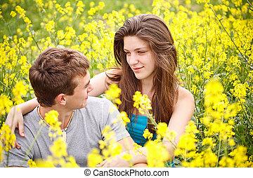 ciascuno, coppia amorosa, altro, natura