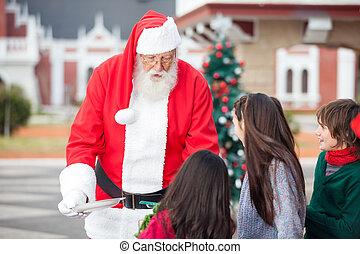 ciasteczka, claus, święty, propozycja, dzieci