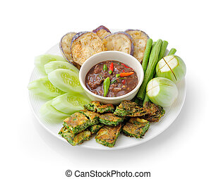 ciasto, (, styl, ), chili, thai jadło, zdrowy