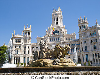 Cibeles Fountain and Cibeles Palace, Madrid