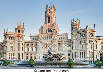 cibeles quelle, an, madrid, spanien