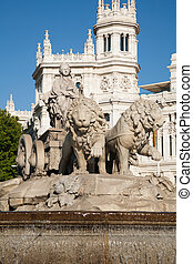 Cibeles sculpture - landmark of famous neoclassical...