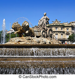 Cibeles statue Madrid fountain in Paseo Castellana - Cibeles...