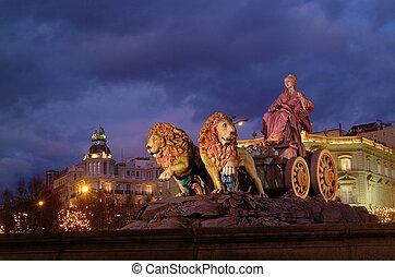 Cibeles - urban scene Cibeles Square with the monument of...