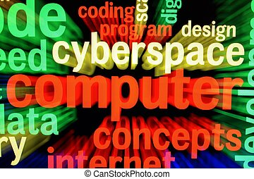 ciberespaço, tela, conceito