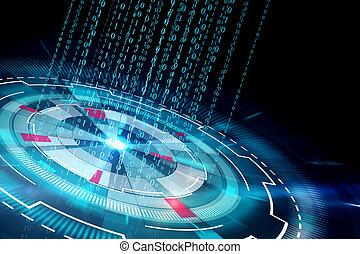 ciberspazio, codice binario