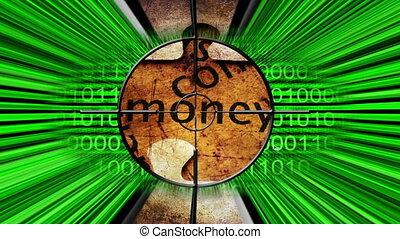 cible, argent, concept, ligne