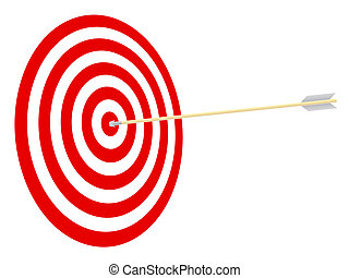 cible, et, arrow.