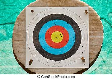 cible fusillade, feuille