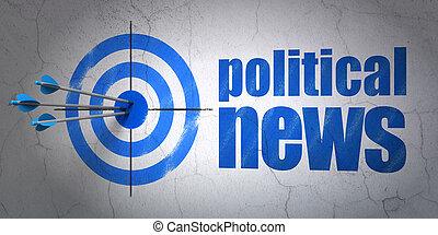 cible, mur, politique, fond, nouvelles, concept: