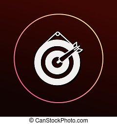 cible tir arc, icône