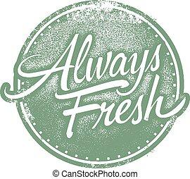 cibo, always, prodotto, fresco, francobollo
