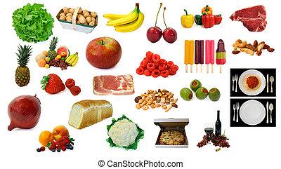 cibo, articoli, bevanda, vario