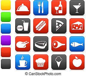 cibo, bevanda, collezione, icona