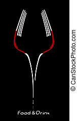 cibo, bevanda, disegno