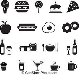 cibo, bevanda, icona