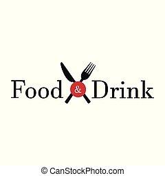 cibo, bianco, bevanda, fondo, &