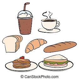 cibo, bianco, bevanda