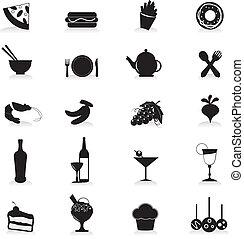 cibo bibita, icone