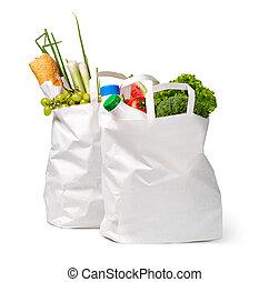 cibo, borsa, carta