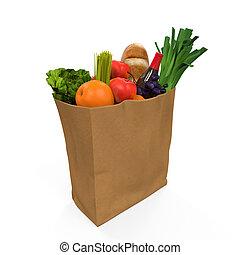 cibo, borsa, drogheria