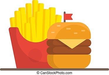 cibo, cena, hamburger, digiuno