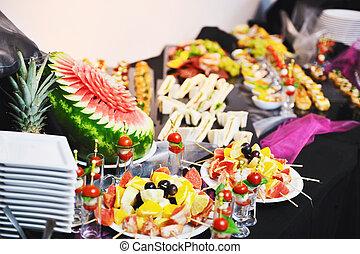 cibo, closeup, buffet
