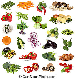 cibo,  collage, verdura