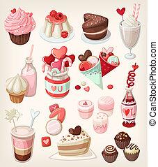 cibo, colorito, valentina
