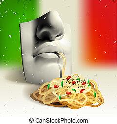 cibo, concetto, -, italiano