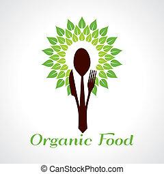 cibo, concetto, organico