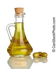 cibo, condimento, olio, oliva, vegeterian