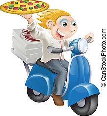 cibo, consegna, digiuno, pizza