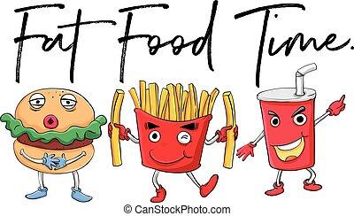 cibo, differente, tipi, digiuno